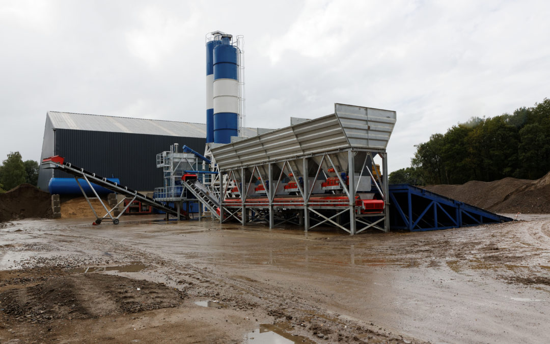 Concrete batching plant for FRECAR RECYCLING with Schneider Electric.